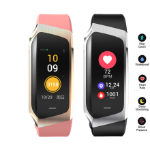 E18 Smart Band 2019 Color Touch Screen ip67 Waterproof Blood Pressure Oxygen Heart Rate Monitor Sport Bracelet Talk Mi 2 3