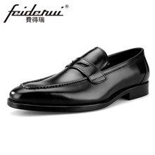 Элегантные мужские свадебные лоферы из натуральной кожи с круглым носком; мужская обувь на плоской подошве без застежки с кисточками; повседневная обувь ручной работы, увеличивающая рост; BQL91
