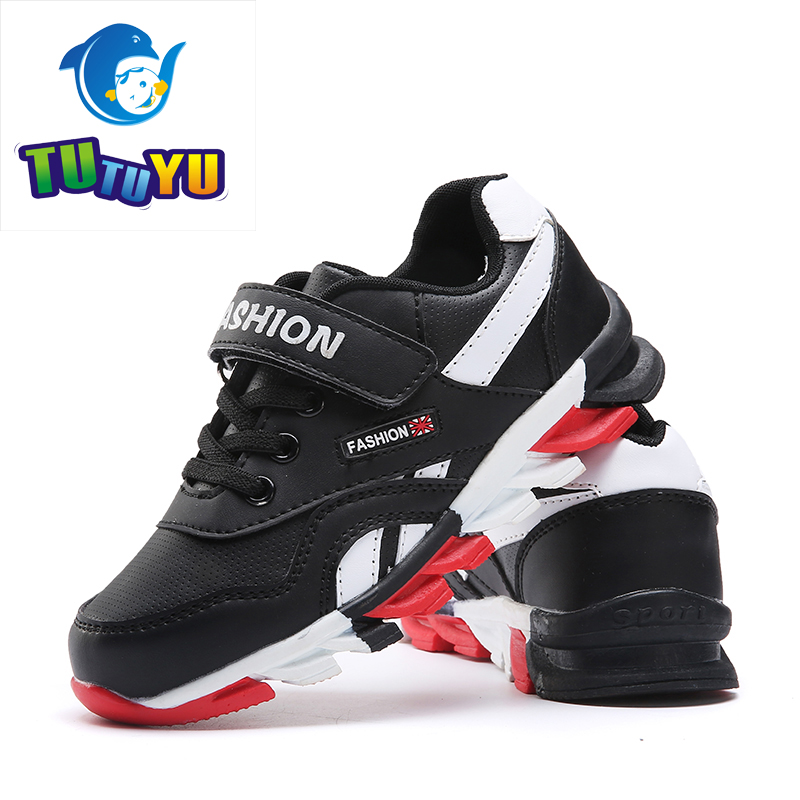 2016 New Children Shoes Boys Sneakers Girls Sport Shoes Child Leisure Trainers Casual Breathable Kids Running Shoes Size 26-39 2017 new fashion kids leather sport shoes teenager breathable sneakers children shoes for girls boys non slip kids running shoes