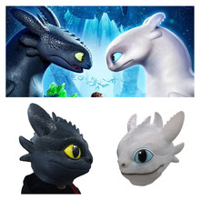 New How to Train Your Dragon Light Fury Toothless Night Fury Cosplay Mask Helmet Latex Masks Kids Adult Cosplay Props Toy Gift