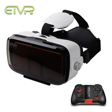 ETVR 3D Virtual Reality Immersive Cardboard VR Glasses Headset For 4.7 – 6.2 Inch Smartphone With Wireless Bluetooth Gamepad