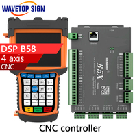 4 axis cnc dsp controller B58 support step motor DSP B58 support I/O port max 64 data web transfer 5 inch color screen