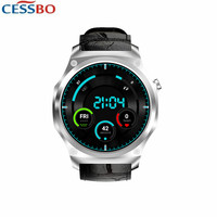 MTK6580 1.3GHZ 2019 New 3G Smart Watch Phone Men Steel Leather Touchscreen Smartwatch WIFI Compatible for Android and iOS iPhone