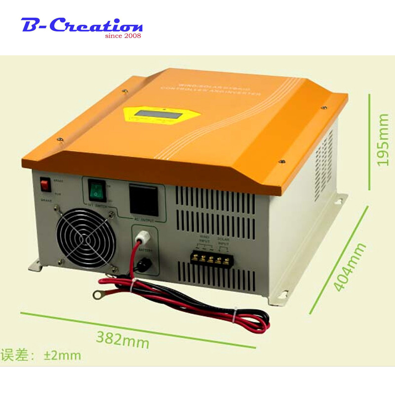 1000W Pure Sine Wave wind solar controller with Inverter