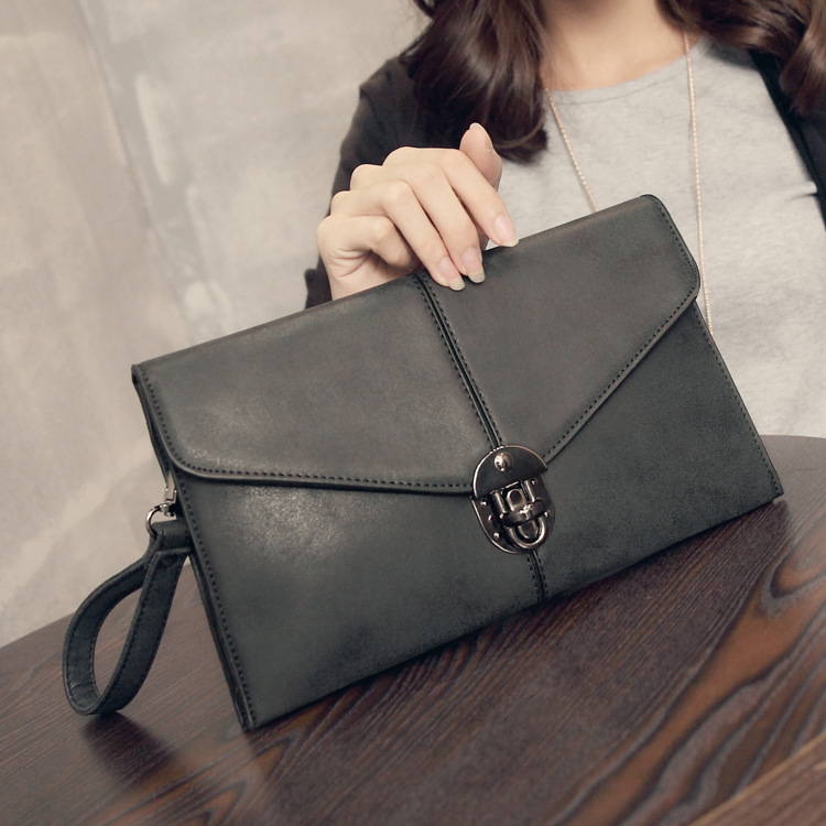 New Kangaroo Kingdom Famous Brand Women Bag Genuine Leather Clutch Bags