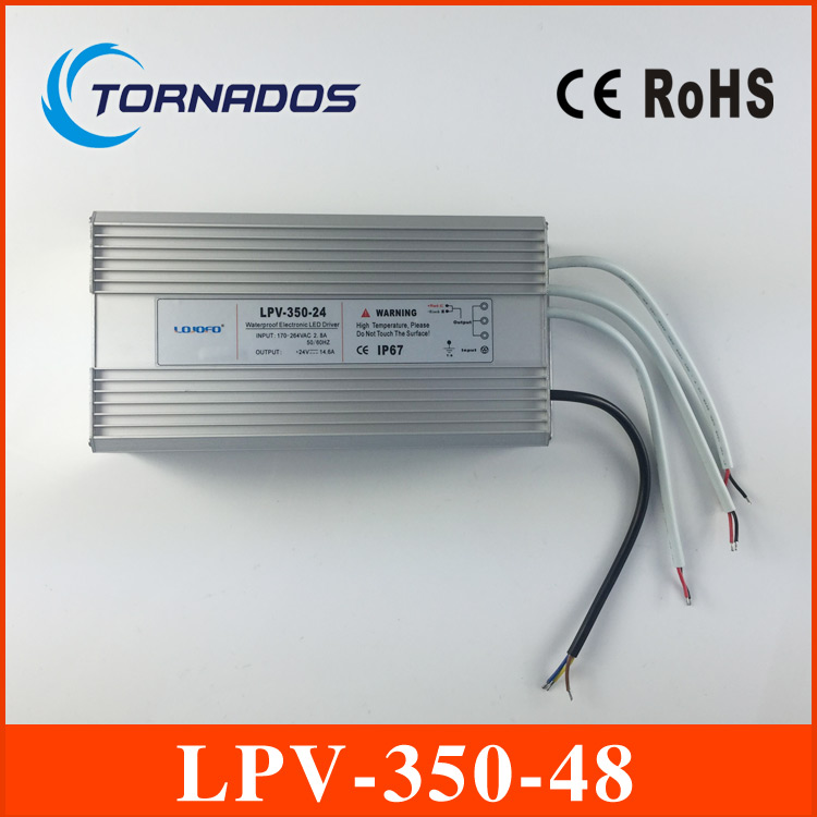 350W constant voltage waterproof LED switching power supply 48v led drivers LPV-350-48 120w 48v 2 5a led constant voltage waterproof switching power supply ip67 for led drive lpv 120 48