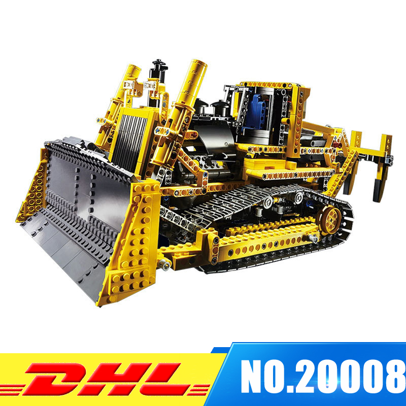 LEPIN 20008 technic series remote control the bulldozer Model Assembling Building block Bricks kits Compatible with 42030 new lepin 22001 pirate ship imperial warships model building kits block briks toys gift 1717pcs