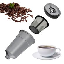 3pcs/set Reusable Coffee Filter Replacement Mesh Parts Refillable Holder Kit
