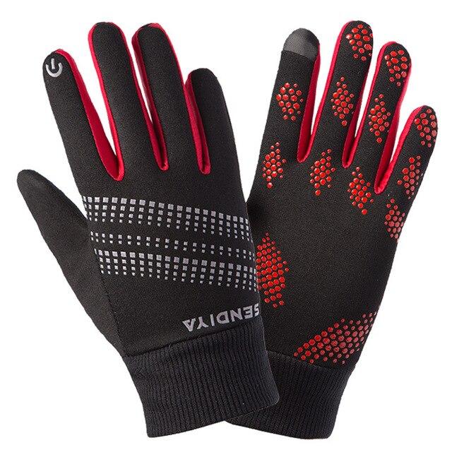 8c6a41ddf46 Nuevo invierno hombres mujeres guantes de dedo completo polar cálido a  prueba de viento pantalla táctil