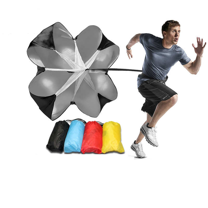 Velocidad Ajustable paracaídas de resistencia para entrenamiento corriendo paraguas al aire libre herramienta para ejercicio equipo fútbol Accesorios