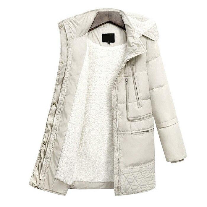 Veste Pour Coton noir Parkas D'hiver Épaississement Le Agneau Jacket Manteau Femelle Beige De Les Vêtements Femmes Épaissi Bas D'extérieur Vers wqpYvOHa