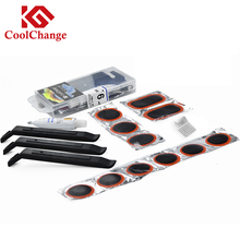 Coolchange Bike Bicycle Cycling Flat Tire Repair Kit Tool Set Kit Patch Rubber Portable Fetal Best