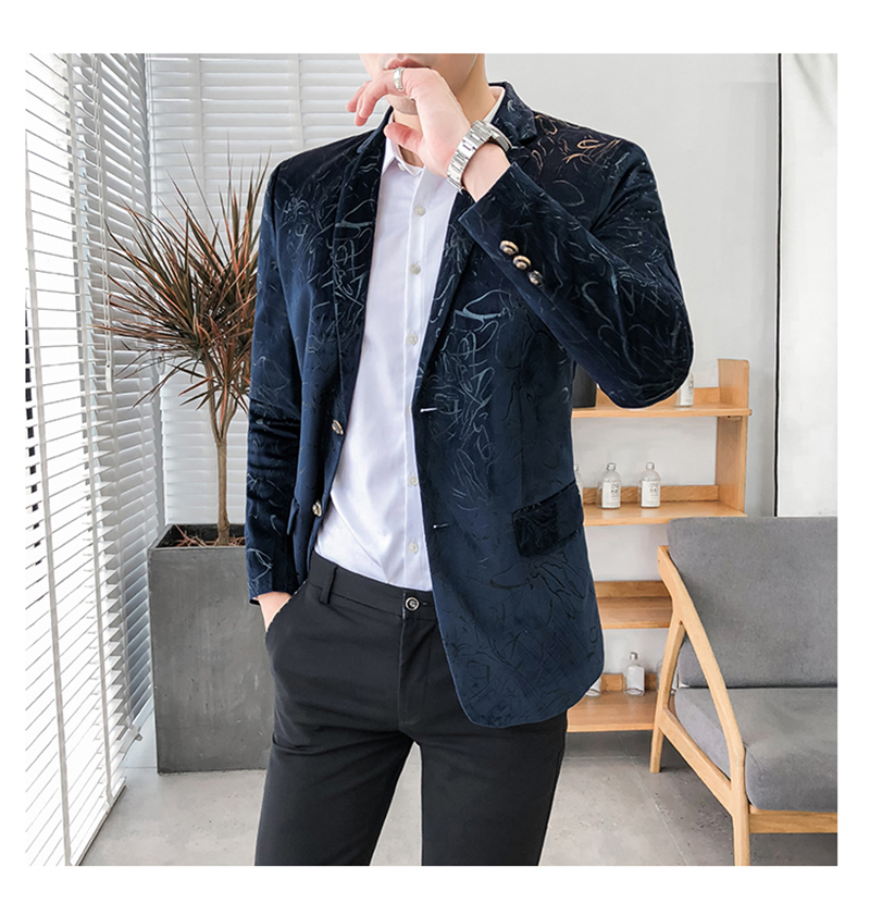 Blazer Masculino Slim Fit Casual Blazers Men Suits Wedding Blazer For Men (3)