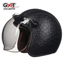 Motocycle Classic Vintage jets helmet Open face helmet Retro Motorcycle helmet GXT capacete motoqueiro ew casco moto  052