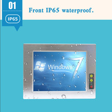 Waterproof 15 inch industrial touch screen display panel embedded PC all in one