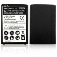 Для 3500 мАч LG G3 Замена Batteria Для LG G3 D855 VS985 D830 D851 F400 D850 Аккумуляторная Батарея