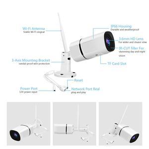 Image 4 - Jooanとonvif hd 1080p ipカメラワイヤレス無線lan弾丸カマラ屋外防水IP66ナイトビジョンirカットセキュリティ