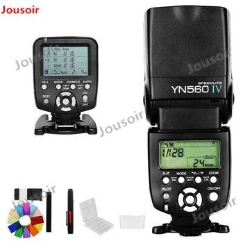 Yongnuo YN560 IV YN560IV +YN560TX Flash Controller For C N with free 3 Flash Diffuser Box Wireless Speedlite Flash CD50