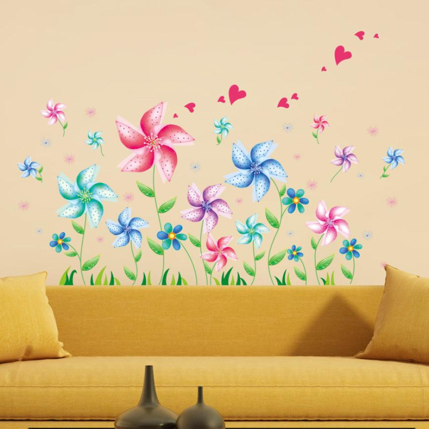 Vinyl Wall Decoration Large Mural Wall Home Decoration Accessories Wall Stickers Home Decor Living Room Adornos