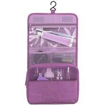все цены на 2019 Portable Women Toiletry Makeup Bag Wash Travel Large Hanging Zipper Organizer Cosmetic Bags Women Storage Pouch Toiletry онлайн