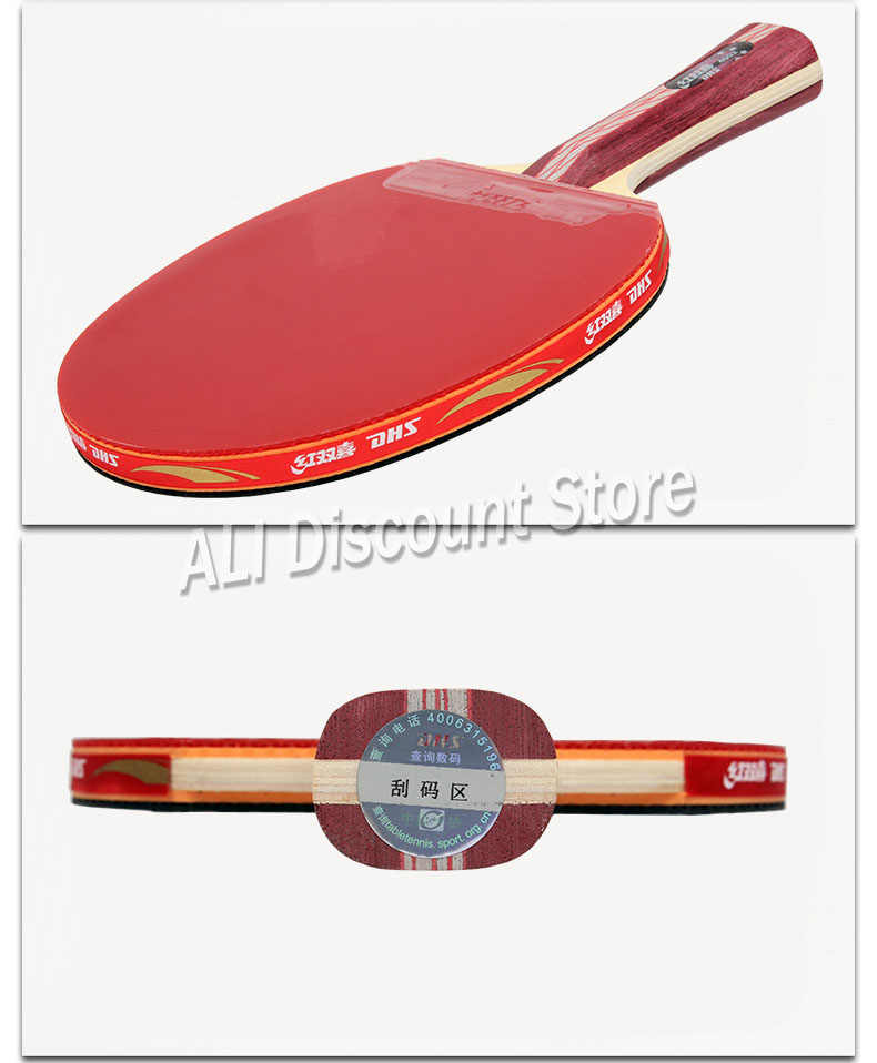 DHS Table Tennis Racket 4002 4006 Ping Pong Paddle Table Tennis Racquets indoo sports Raquete