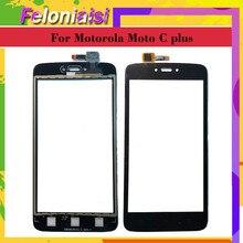 10Pcs/lot 5.0 For Motorola Moto C Plus XT1721 XT1722 XT1723 XT1724 Touch Screen Digitizer Front Glass Panel Sensor Black NO LCD аккумулятор для телефона ibatt hc60 для motorola moto c plus xt1723 moto c plus dual sim