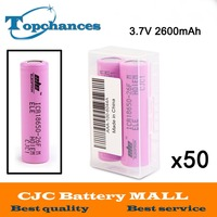 50x2 шт./партия высокое качество 3.7 В 2600 мАч 18650 литий ионная Батарея ICR18650 26F ICR18650 26f 2600 мАч батареи baterias