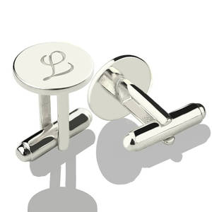 Image 2 - AILIN Personalized Sterling Silver Initial Letter Cufflinks Wedding Groomsmen Cufflinks Gift for Man