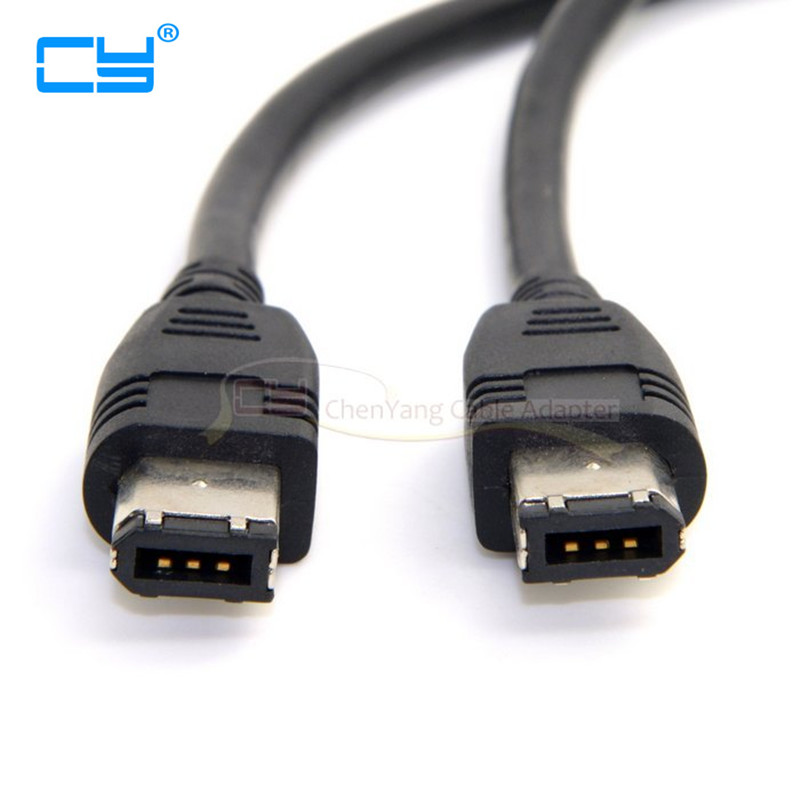 все цены на 6 PIN to 6PIN FireWire 400 to FireWire 400 6-6 ilink Cable IEEE 1394 1.8m/6FT Black For Digital camera or external CD-ROM онлайн
