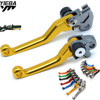 Universal Adjustable Dirt Bike Motorcycle Brake Clutch Levers FOR SUZUKI LTZ400 450 2006 2009 250SB 02