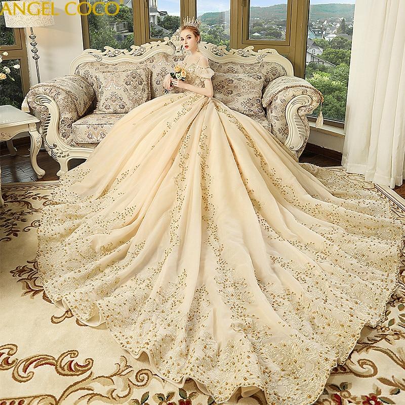 9bf01ad5672 Pregnancy Maternity Dresses Wedding Pregnant Bride Married Slim Champagne  Dream Princess Bling Bling Luxury Robe De Mariage