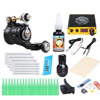 Complete Tattoo Beginner Kit Set Tattoo Rotary Machine Set USA Imported Pigment Lcd Power Box Needles Beauty Health Accessories