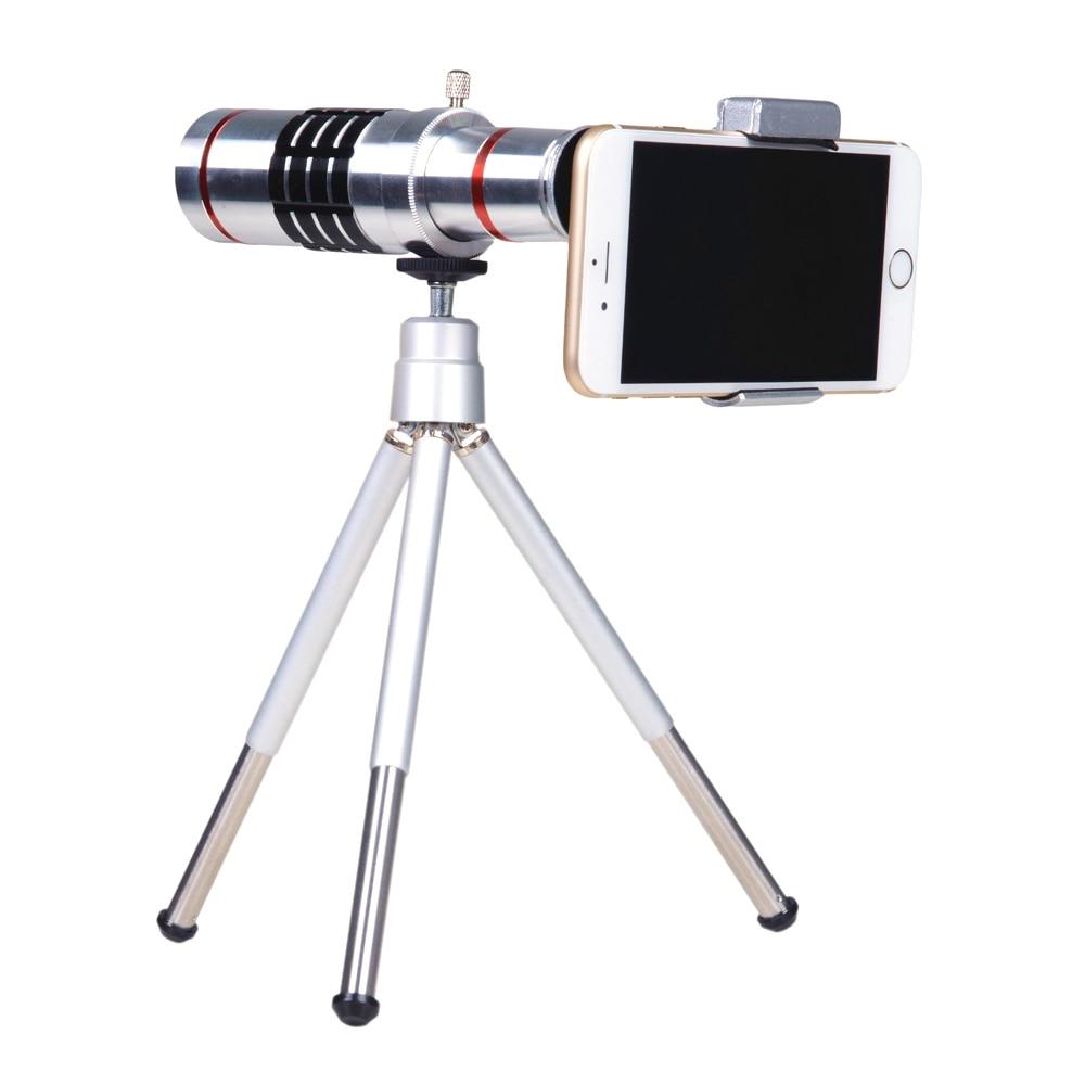 imágenes para Teléfono Universal 18X Zoom Teleobjetivo Lente de La Cámara con Mini Trípode para iPhone 7 6 s plus Samsung s6 s7 LG HTC Accesorios de Fotografía