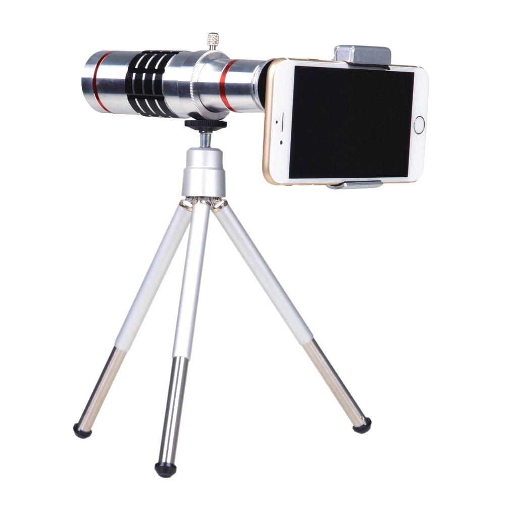 bilder für Universal 18X Zoom Telefon Telekamera mit Ministativ für iPhone 7 6 s plus Samsung s7 s6 LG HTC Fotografie Zubehör
