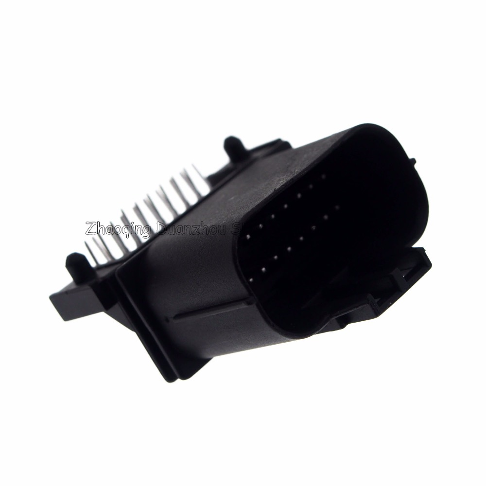 hight resolution of 18 pin way male car computer version connector ignition wiring harness plug for vw audi bmw toyota etc in connectors from lights lighting on
