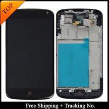 Numer śledzenia 100% testowany wyświetlacz lcd dla LG Google Nexus 4 E960 wyświetlacz LCD ekran dotykowy Digitizer zgromadzenie