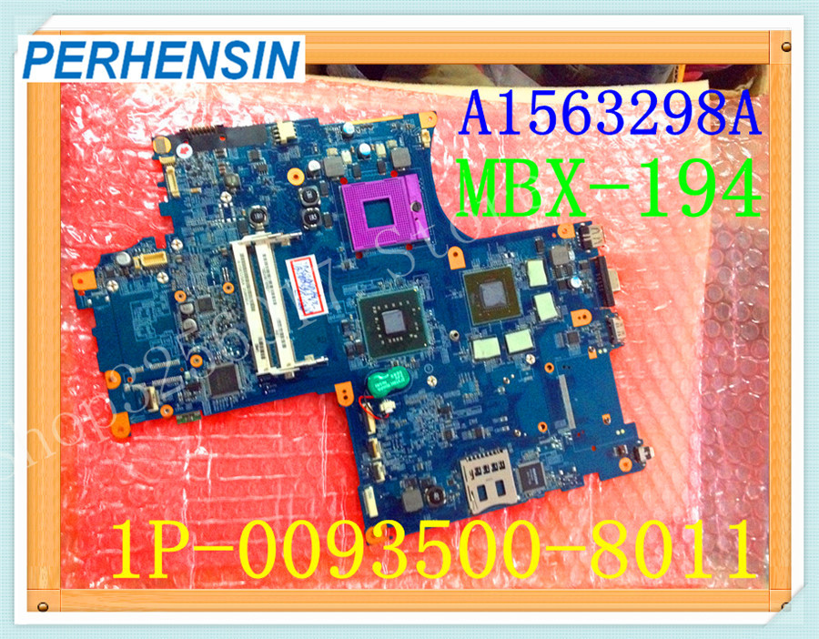 For SONY For VAIO M782 VGN-AW330 VGN-AW Laptop MOTHERBOARD A1563298A MBX-194 1P-0093500-8011 PM45 S478 100% WORK PERFECTLY mbx 265 for sony svt13 motherboard with cpu i3 3217u 2gb memory pc motherboard professional wholesale 100