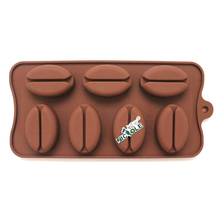 Coffee beans Shape Silicoone Soap Mold DIY Handmade Chocolate Mould Candy Cake Making Tool