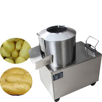 Jamielin Commercial Potato peeler Cleaning Machine Automatic Potato Peeling Machine Potato Washer Stainless Steel Electric Peelers    -