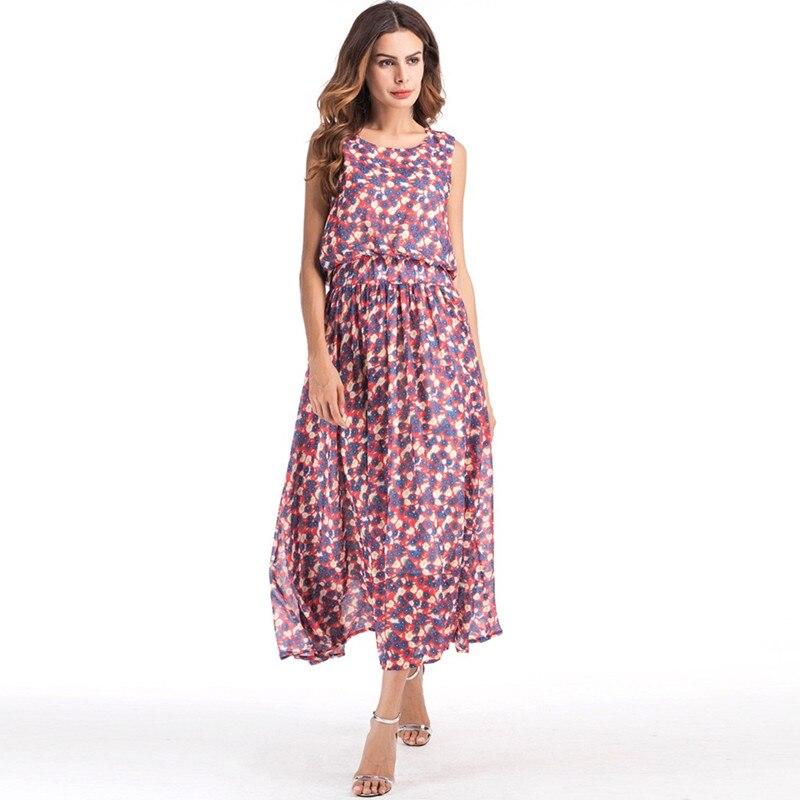 De Long Soie Mode Beach As Picture 2018 Floral Maxi Debowa Robe Nouvelle Split Princesse Bohème D'été Mousseline Femmes Dos 8w7H4zFx