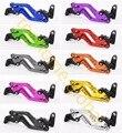 Alavancas de freio de embreagem para yamaha r1/r1m 2015 2016 cnc 10 cores curto 14.7 cm