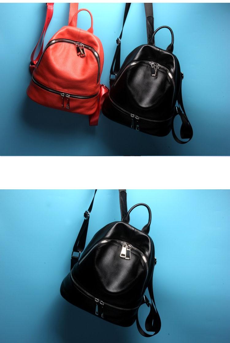 women genuine leather backapck 8