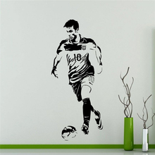 New arrival Art Decor Football Player Sports Soccer Decal Kids Room Posters Vinyl Wall Sticker Neymar Football Sticker football sticker book