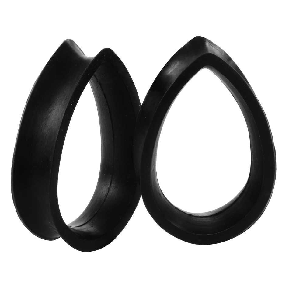 SWANJO 1 Cặp Linh Hoạt Silicone Tear Drop Tai Ổ Cắm Đồng Hồ Đo Cắm Đường Hầm Đồ Trang Sức Cơ Thể Piercing Băng Teardrop Tăng Thể