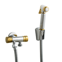 5pcs Toilet spray gun set bidet faucet bathroom hand bidet sprayer set kit pressurize flush spray gun tank hook & wall mount