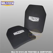Ballisticแผ่นBulletproofแผงNIJระดับ4 IV Alumina & PE Stand Alone 2 PCS 10X12นิ้วLightน้ำหนักBody Armor  Militech