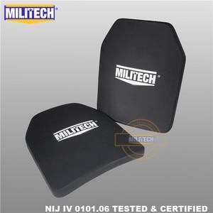 Image 1 - Ballistic Plate Bulletproof Panel NIJ level 4 IV Alumina & PE Stand Alone Two PCS 10x12 Inches Light Weight Body Armor  Militech