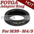 Envío libre! comercio al por mayor fotga lente anillo adaptador para leica l39 m39 lente para micro 4/3 m4/3 adaptador para e-p1 g1 gf1
