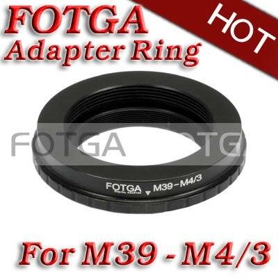 Envío libre! venta al por mayor fotga Adaptadores para objetivos anillo para Leica l39 m39 lente a micro 4/3 M4/3 adaptador para e-p1 G1 gf1