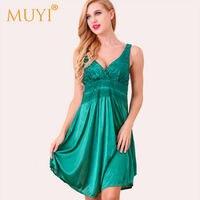 Sexy Sleepwear Lace Nightgowns Women Night Dress Sleeveless Babydoll Sleepwear Women Plus Size Sex Nightwear Night Gown Nuisette
